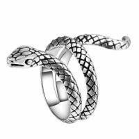 animale rock gioielli placcati in argento punk - anelli a forma di serpente
