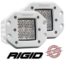 Rigid Industries D-Series PRO Flush Mount LED Light Set - Flood / Diffused - WHT