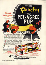 1951 PAPER AD Nosco Toy Poochy Pat-Agree Pup Dog Pull Toys