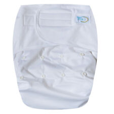 Teen / Adult Reusable Incontinence Cloth Diaper 5 layer insert Hook & Loop White