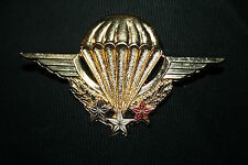 FRENCH FOREIGN LEGION & ARMY INSTRUCTOR PARACHUTE WING BADGE DRAGO MADE
