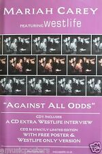 "MARIAH CAREY/WESTLIFE ""AGAINST ALL ODDS"" U.K. POSTER-Many shots of Mariah & Band"