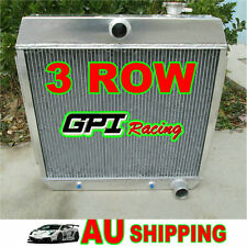 3Cores Aluminum Radiator FORD CHEVY V8 Cyl Style ENGINE BEL AIR 1955 1956 1957