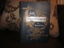 ANTIQUE 1892~SPURGEON~THE LIFE OF C. H. SPURGEON~RUSSELL H. CONWELL~VERY GOOD!