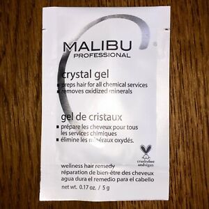 1 Malibu C Crystal Gel Treatment + 1 Cap Removes Discoloration Hair Color Prep