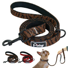 4ft Nylon Dog Leash With Padded Handle Puppy Pet Durable Walking Leads Brown Red