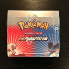 Pokemon TCG EX Rubin & Saphir Booster Box, Display selten rare, deutsch OVP!