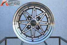 Varrstoen V2 15X8 4X100 Et25 Black/Mc Face W/ Mc Lip (1 Wheel Only)