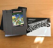 NES Teenage Mutant Ninja Turtles The Arcade game with manual & sleeve