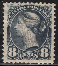 Canada 8c Small Queen, Scott 44, VF MHR, catalogue - $350