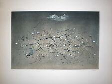HIROSHI ASADA gravure originale signée numérotée art abstrait abstraction