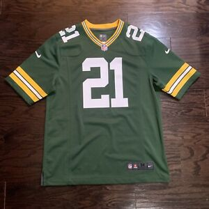 NIKE GREEN BAY PACKERS #21 Charles Woodson NFL FOOTBALL JERSEY Mens Size Medium