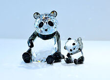 Swarovski Crystal Panda Mother and Baby Cub Signed 5063690 Brand New In Box