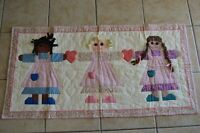 Vintage Patchwork Wall Hanging Friendship Girls Country Farmhouse Home Decor