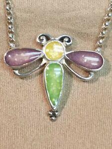 Carolyn Pollack Relios Sterling Silver Dragongfly Necklace