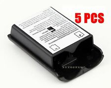 5X New Battery Pack Cover Shell Case Kit for Xbox 360 Wireless Controller Black