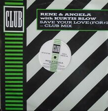 """RENE & ANGELA with KURTIS BLOW ~ Save Your Love For #1 ~ 12"""" Single PS"""