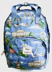Cath Kidston Disney Peter Pan Backpack Blue Rucksack Bag London Night Tinkerbell