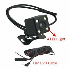 Car DVR Rear View Camera With Wire Cable 5M 4 PIN Rearview Camera With 4 LED ...