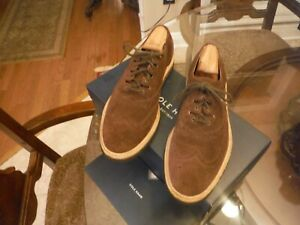 NEW COLE HAAN CHRISTY WEDGE Gilley OXFORD (C12038) Brown SUEDE 9.5 M $248