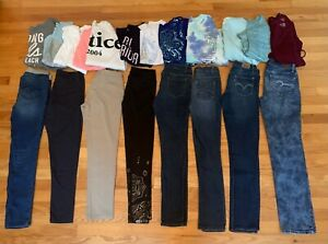 HUGE 20pc Lot GIRL SIZE 14/16  Fall/Winter JUSTICE OLD NAVY LEVI'S & More