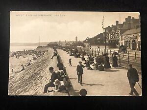 Jersey - Channel Islands Promenade, West End -  by Foot Jersey - unused