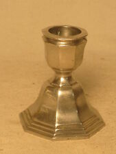 vintage candle holder hall marked metal silver-plated ? octagon base IM griffin