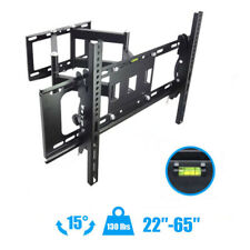 "Articulating Full Motion TV Wall Mount 15°Tilt 180°Swivel For 42""47""50""55""60""65"""