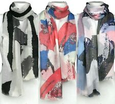 Spectacular Abstract Sparkly Sequin Soft Fashion Large Scarf Shawl Sarong Wrap