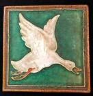 Vintage Delft Tile Flying Goose Duck Hand Painted - 4.5 x 4.5'