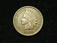 JUST IN!  VF+ 1898 INDIAN HEAD CENT PENNY w/FULL  LIBERTY & SOME DIAMONDS #52s