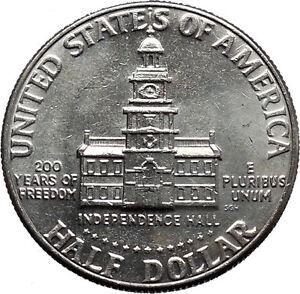 1976 President John F. Kennedy BICENTENNIAL Half Dollar Independence Hall i44880