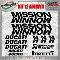 adesivi in kit ducati mission winnow auto sticker tuning stiker vinile moto gp