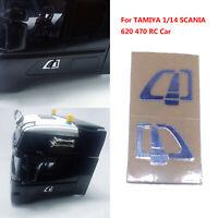 Left&Right Car Door Handle Sticker for 1:14 TAMIYA SCANIA 620 470 Upgrade Part I