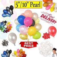 "10-100 PEARL10"" 5"" Metallic BALLOONS BALLON helium BALOON Birthday Wedding Party"