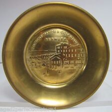 Old Brass Belmont Manor & Golf Club Bermuda Tray tip coin ring jewelery ashtray