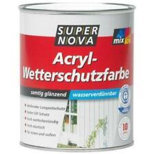 Super Nova Acryl-Wetterschutzfarbe Innen & Außen 0,75 L Farbwahl