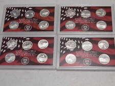 4 SILVER Proof State Quarter Set 2004,2005,2006,2007  No Box or Coa   Nice Coins