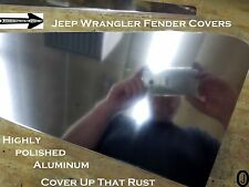 JEEP wrangler TJ Highly Polished Aluminum FENDER Covers With Bend