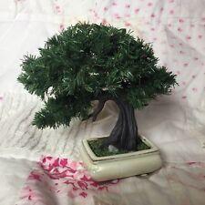 Amazing Small Artificial Cedar Pine Evergreen Bonsai Tree Mame Shohin with Pot