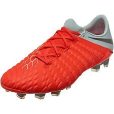 Nike Hypervenom 3 Elite FG Crimson Soccer Cleats AJ3805 600 Men's 8 Women's 9.5