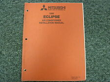 1990 Mitsubishi Eclipse Air Conditioner AC Service Installation Manual GS GSX