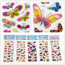 5 sheets 3D PVC Foam Classic cartoon Colorful butterfly kids favor Stickers lot