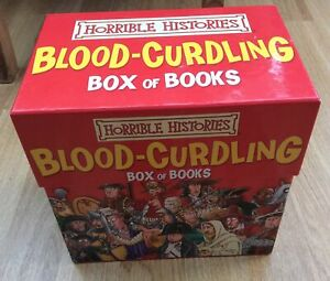 Horrible Histories: Blood-Curdling Box of Books 20 paperback books box set