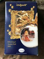 Rare ~ Goebel Annual Ball Ornament ~ Dated 2001 ~ Mint in Box