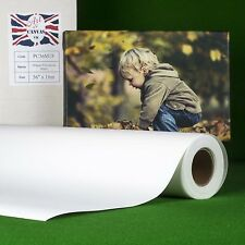 "36"" x 18m 280gsm Inkjet Poly Canvas Roll Matte, Water Resistant, Brilliant White"