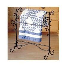 Quilt Rack Antique Iron Scroll Blanket Holder Display Decor Storage Organizer