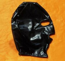 Black Spandex Latex Hood Full Mask Eyes & Mouth Open Breathable Club Adult H006B
