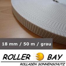 50 m Rolladengurt 18 mm grau Rolladen Gurt Gurtband  z.B. Fertighaus Rollladen