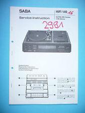 Service Manual for Saba Ultra HiFi Center 1100, ORIGINAL!